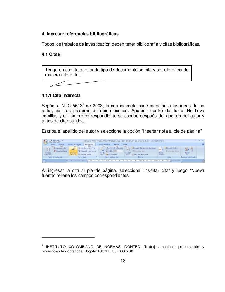 Normas Icontec Citas - 901384